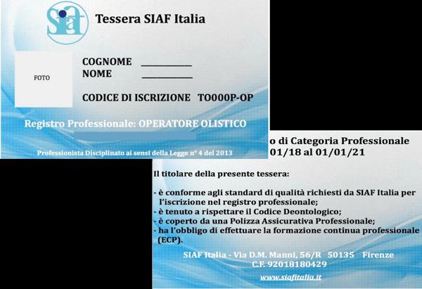 Tessera - Centro di Formazione Soul Contact